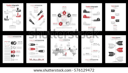 TIMELINE INFOGRAPHIC NEW STYLE COLLECTION RED 2
