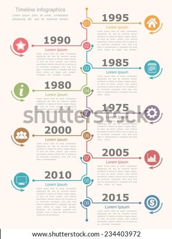 Timeline infographics design template, vector eps10 illustration