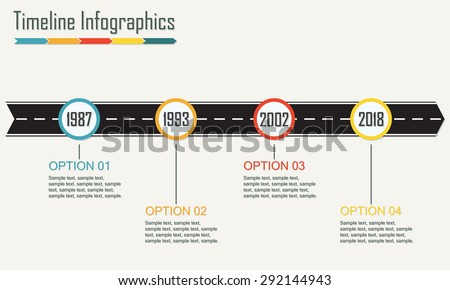 timeline infographic template vector download free vector art powerpoints templates