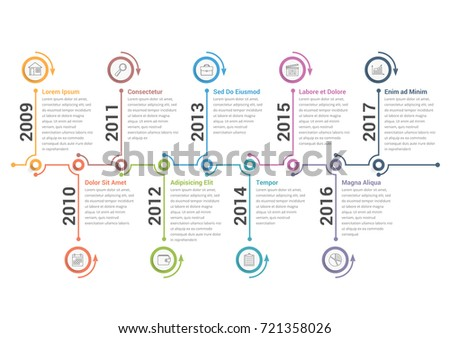 Flat Timeline Infographic Vector Download Free Vector Art Stock - Free timeline infographic template
