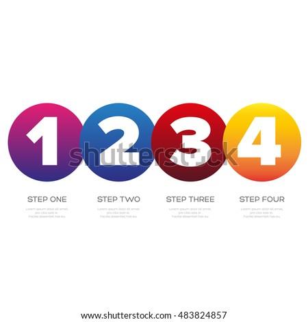Timeline - One two three four progress bar label