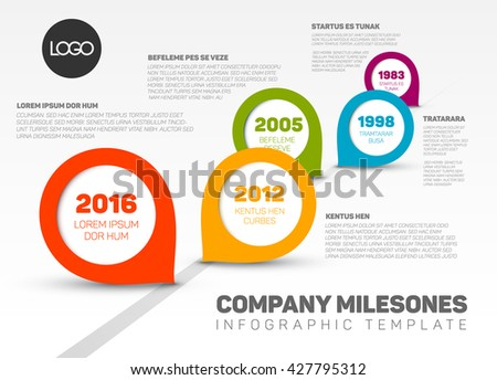 timeline template vector