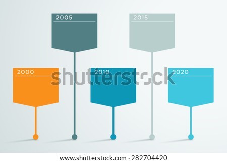 timeline vector 3d infographic 2