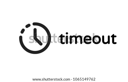 Timeout error web page or oops 404 session time out vector icon