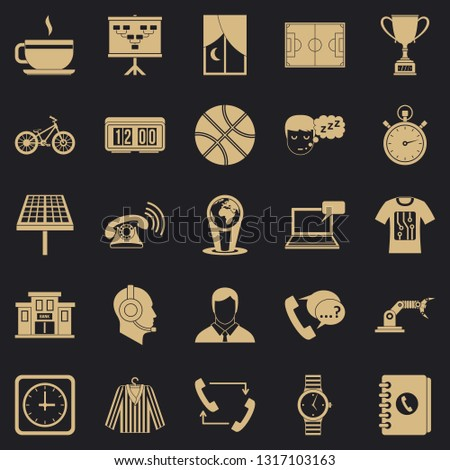 Timepiece icons set. Simple set of 25 timepiece vector icons for web for any design