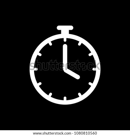 Timer clock icon ui simple style flat illustration.