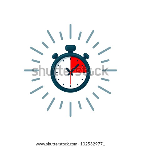 Timer icon. Fast time. Fast delivery, express and urgent shipping, services, stop watch speed concept, deadline, delay. chronometer sign. vector illustration