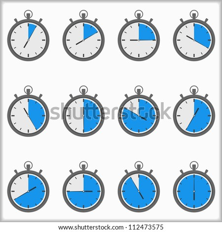 Timer icons, vector eps10 illustration - stock vector