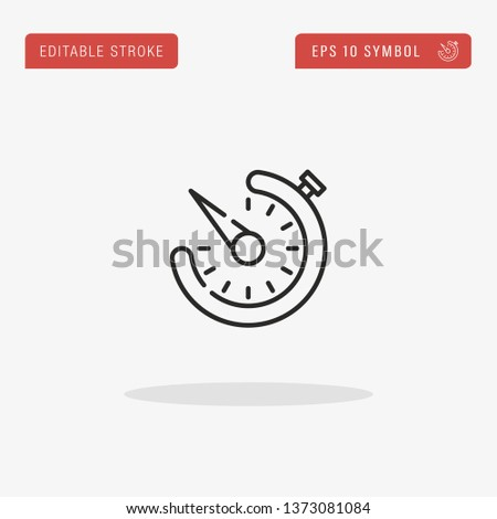 Timer linear vector icon. Modern outline Timer logo concept from Camera Interface collection. Suitable for use on web apps, mobile apps and print media.