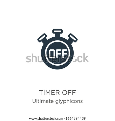 Timer off icon vector. Trendy flat timer off icon from ultimate glyphicons collection isolated on white background. Vector illustration can be used for web and mobile graphic design, logo, eps10
