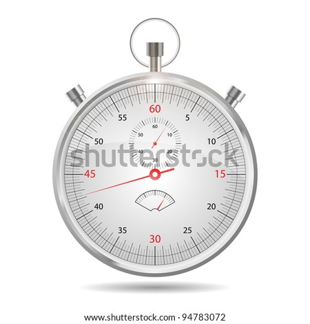 Timer, stopwatch - vector EPS 10. Easy to edit.