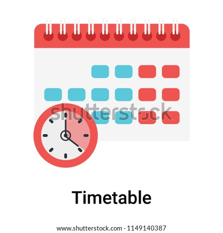 Timetable icon vector isolated on white background for your web and mobile app design, Timetable logo concept