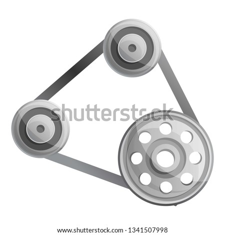Timing belt timing car icon. Cartoon illustration of timing belt timing car vector icon for web design isolated on white background