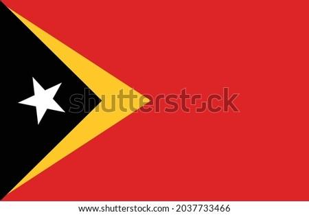 Timor-Leste flag vector. National flag of Timor-Leste illustration Stock fotó ©