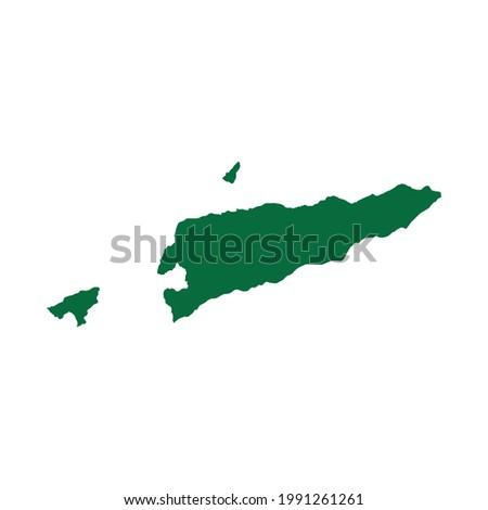 Timor-Leste Map. Timor-Leste map vector illustration. Timor-Leste map silhouette Stock fotó ©