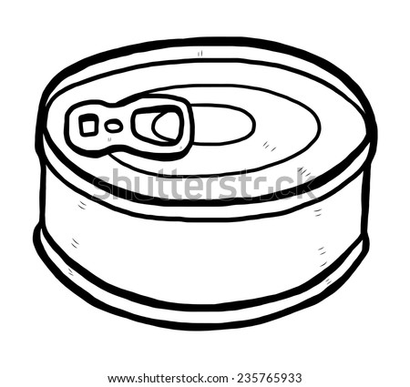 can clipart black and white. tin can / cartoon vector and illustration, black white, hand drawn, sketch clipart white t