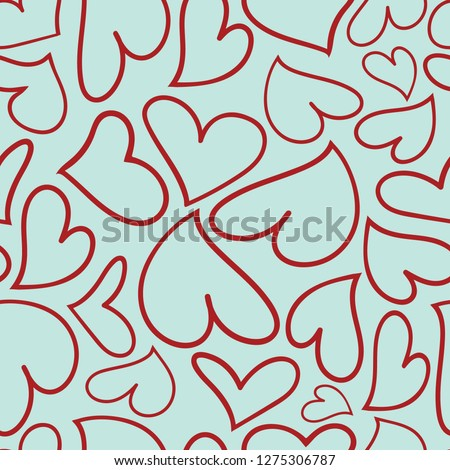 Tin Shanty Designs, vector, repeat pattern design,  hearts with funky, sassy feel. Vector design created with Adobe Illustrator CC