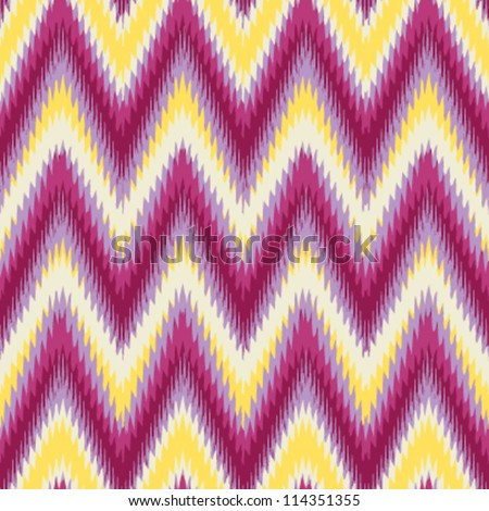 Tinalak cloth inspired seamless chevron background pattern