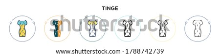 Tinge icon in filled, thin line, outline and stroke style. Vector illustration of two colored and black tinge vector icons designs can be used for mobile, ui, web Stockfoto ©