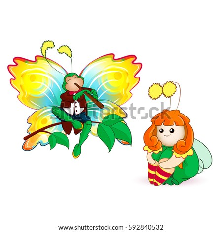 tiny fairy and beautiful