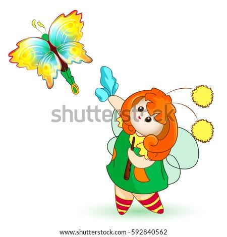 tiny fairy handkerchief waving
