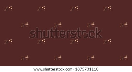 Tiny flowers pattern simple geo motif ditsy floral ornament. Vintage indian design all over printing block for apparel textile, ladies dress fabric, fashion garment, wrapping, shop window, book cover. Stockfoto ©