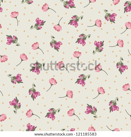 tiny roses seamless background