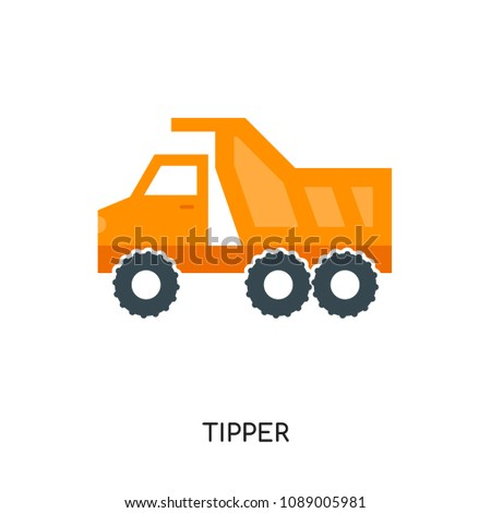 tipper logo isolated on white