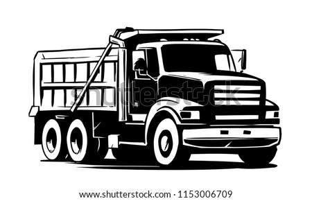 Tipper truck. vector illustration
