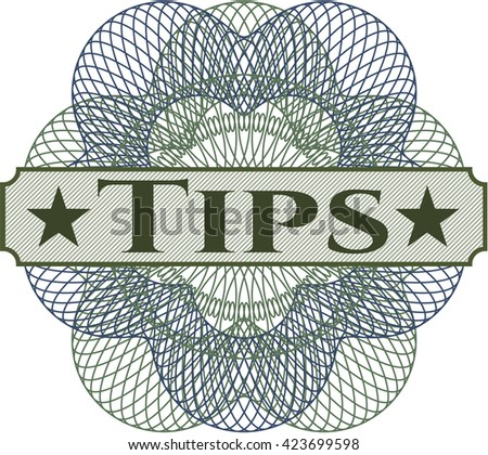 Tips abstract rosette