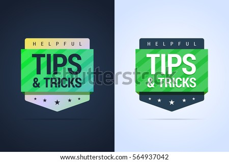 tips and tricks banners. flat...