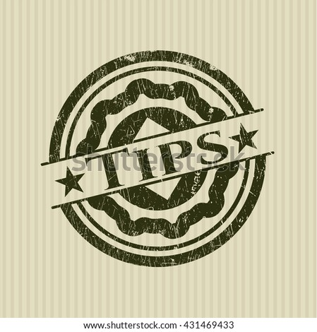 Tips grunge style stamp