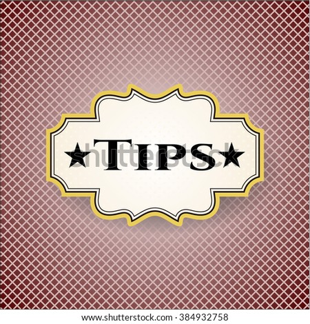Tips retro style card, banner or poster