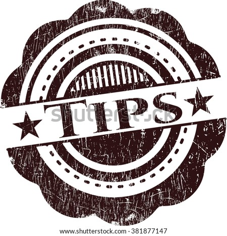 Tips rubber grunge texture stamp