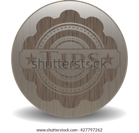 Tips wood icon or emblem