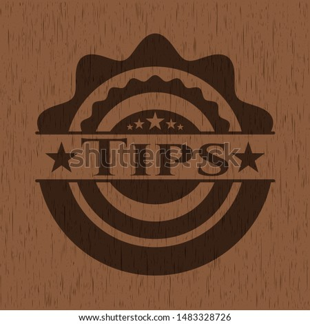 Tips wood signboards. Vector Illustration.