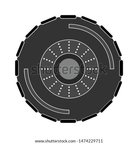 tire icon. flat illustration of tire vector icon. tire sign symbol