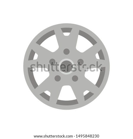 Tire icon on white background, vector symbol #1495848230