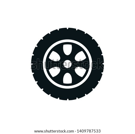 Tire icon vector style trendy illustration