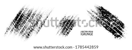 Tire track grunge vector. Car wheel track overlay. Car tire. Motorcycle tire. Drifting. Traffic. Speed race and drifting. Dirty road background.