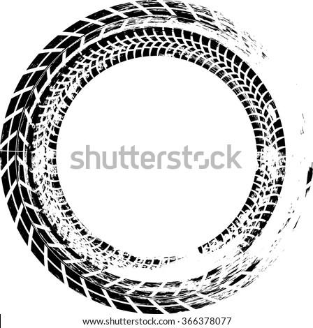 royalty free tire track vector round border frame 368205956 stock rh avopix com
