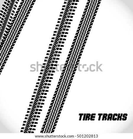 tire tracks backgroundvector