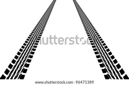 tire tracks leading far away