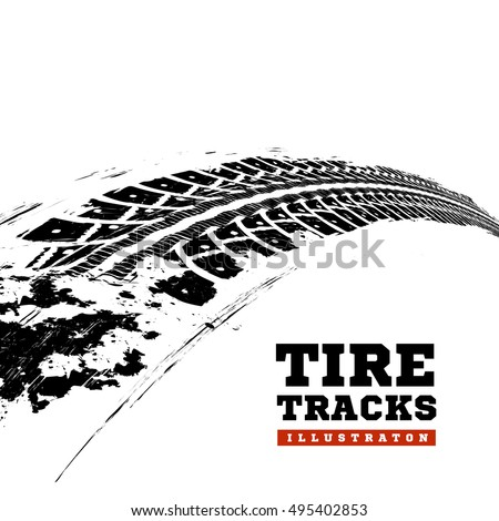 tire tracks. vector...