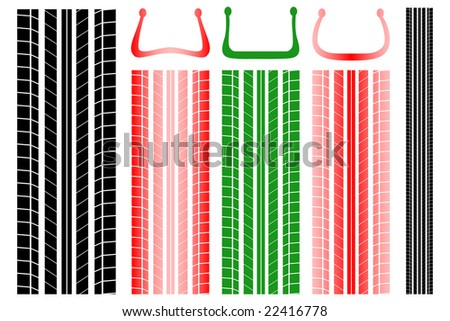 Tire tracks with information on the proper pressure