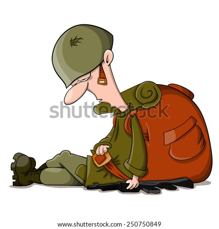 tired vector cartoon sleeping