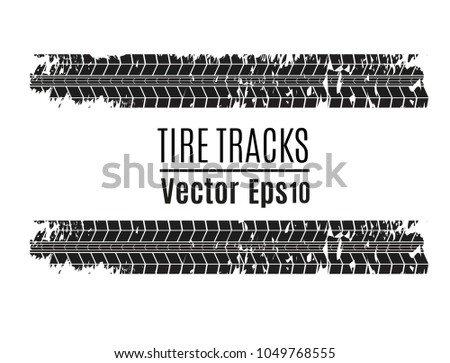 Tires for tires. Dirty Grunge Vector Printed Textured Set.