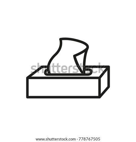 tissue box icon, vector illustration Photo stock ©
