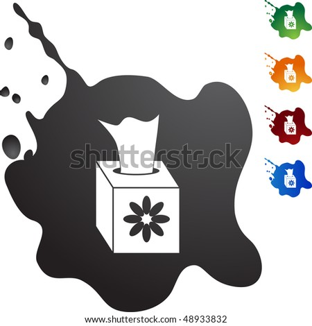 Tissue Box web button isolated on a background.