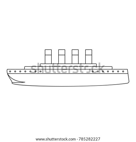 titanic icon outline